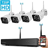 xmartO WVS1044 4CH 720p HD Wireless Security Camera System with 4x720p HD Weatherproof Night Vision Wireless IP Cameras