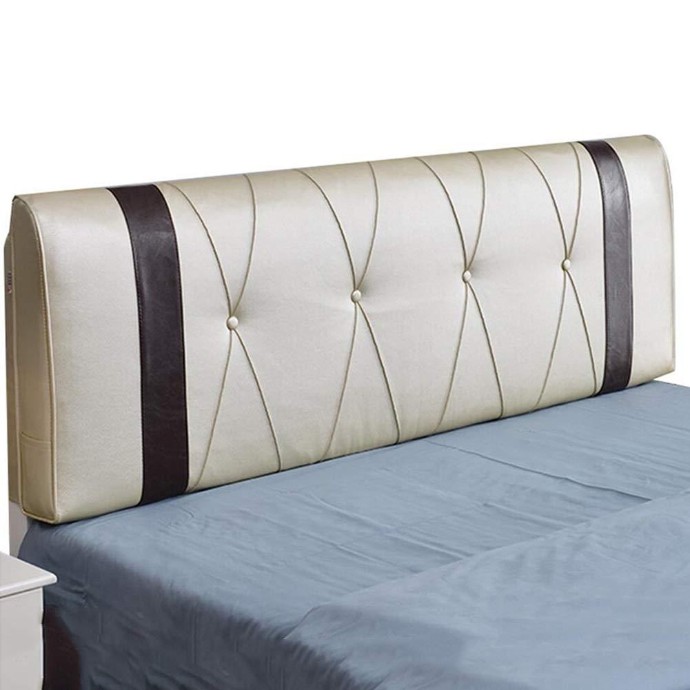 クッションベッドの背もたれ 120x58x5cm : LIANGLIANG さいず : サイズ Beige#A, B07KDCKL8V (色 Beige#A 120x58x5cm) 布張りカバーダブル人物エクストララージキューボイドベッド背もたれ洗える綿充填布PU、4色、5サイズ