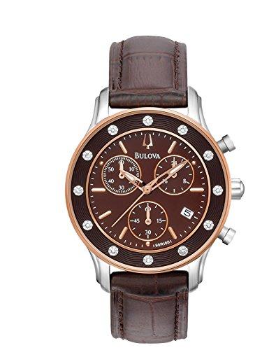 Bulova Women's 98R160XG Quartz Chronograph 34mm Watch (Certified Refurbished)