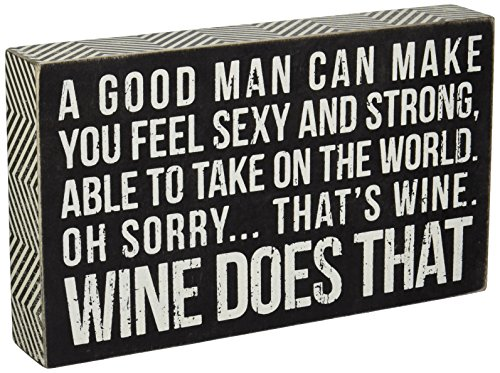 Primitives by Kathy Box Sign, 6-Inch by 10-Inch, Wine Does That (Distressed Wine Box compare prices)