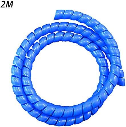 LNIMIKIY Abdeckung 8 mm Drahtschutz Kabelschlauch Spiralwickler Organizer (blau)