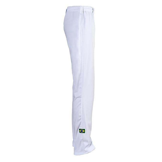 Auténticos Pantalones Capoeira De Brasil De Los Artes Marciales De Los Hombres (Blanca)