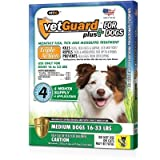 Vetguard Plus for Dogs 8 Month Supply (in 2 Pak) (Medium Dogs 16-33 Lbs) by VetGuard Plus