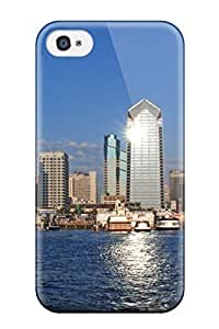 AWU DIYSnap-on San Diego City Case Cover Skin Compatible With Iphone 4/4s
