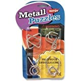 Happy GiftMart Stainless Steel 4 Metallic Intellectual Puzzles For All Age Groups. (Design 1)