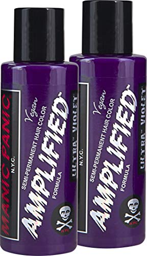Manic Panic Amplified Semi-Permanent Hair Color Cream - Ultra Violet 4oz