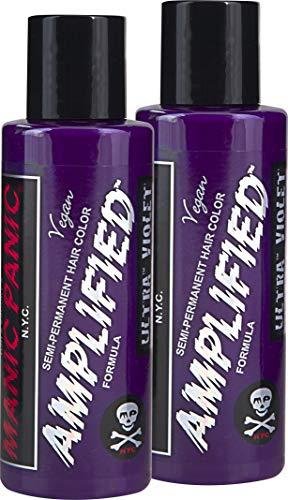 (Manic Panic Amplified Semi-Permanent Hair Color Cream - Ultra Violet 4oz