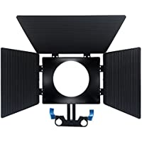 Fasmov 15mm Rail Rods Matte Box for DSLR Camera