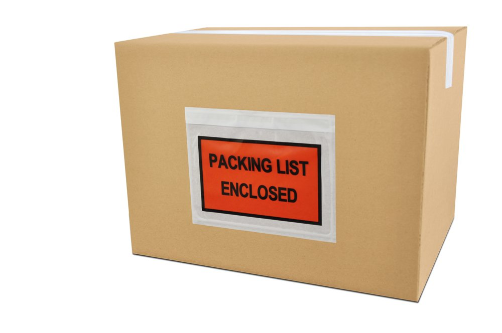 Packing List Envelopes Enclosed Full Face Top Load 2.0 Mil Thick - 7.5'' x 5.5'' 1000/Case