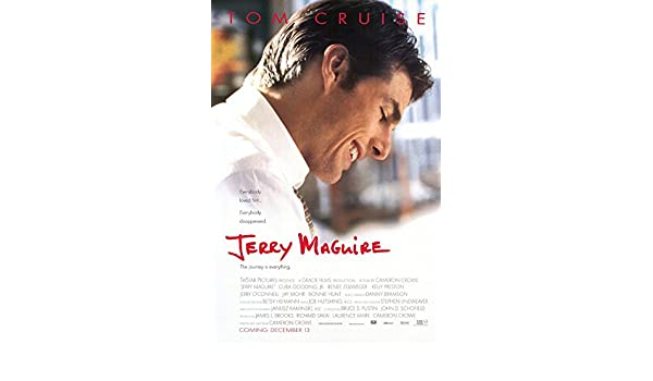 Amazon.com: JERRY MAGUIRE MOVIE POSTER 2 Sided ORIGINAL FINAL 27x40 TOM CRUISE: Posters & Prints