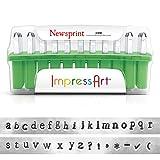 ImpressArt Newsprint Lower Case Metal Stamp Set