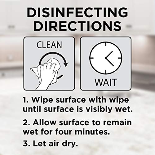 Weiman Granite Disinfectant Wipes - 30 Wipes - 2 Pack - Disinfect Clean and Shine Sealed Granite Marble Quartz Slate Limestone Soapstone Tile Countertops - Packaging May Vary