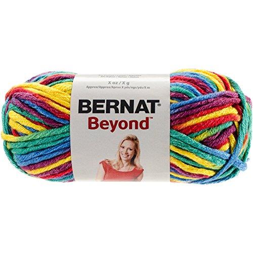 (Bernat Beyond Yarn, 4.2 oz, Gauge 6 Super Bulky Chunky, Rainbow Kid Variegate)