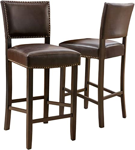 Christopher Knight Home Mayfield Bonded Leather Backed Barstool
