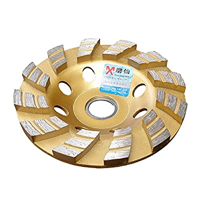 "Elome 7"" 180mm Diamond Grinding Cup Wheel Disc Premium Grade Segment Double Row Grinder Concrete Granite Stone Ceramic with 7/8"" 22mm Thread"