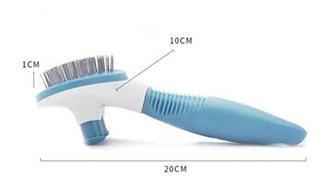 XCXpj Peines autolimpiables para Agujas Peines para Gatos Peinilla para el Peinado Peludo Peine Corto para