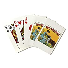 Two Friends Brand Cigar Outer Box Label - St. Bernard (Playing Card Deck - 52 Card Poker Size with Jokers)
