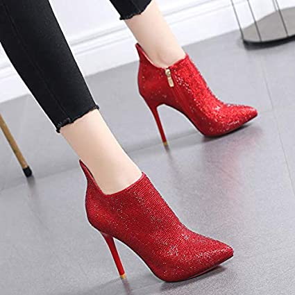 de Bout Chaussures de HRCxue Femmes tempérament Rond Mariage PTOkwXZliu