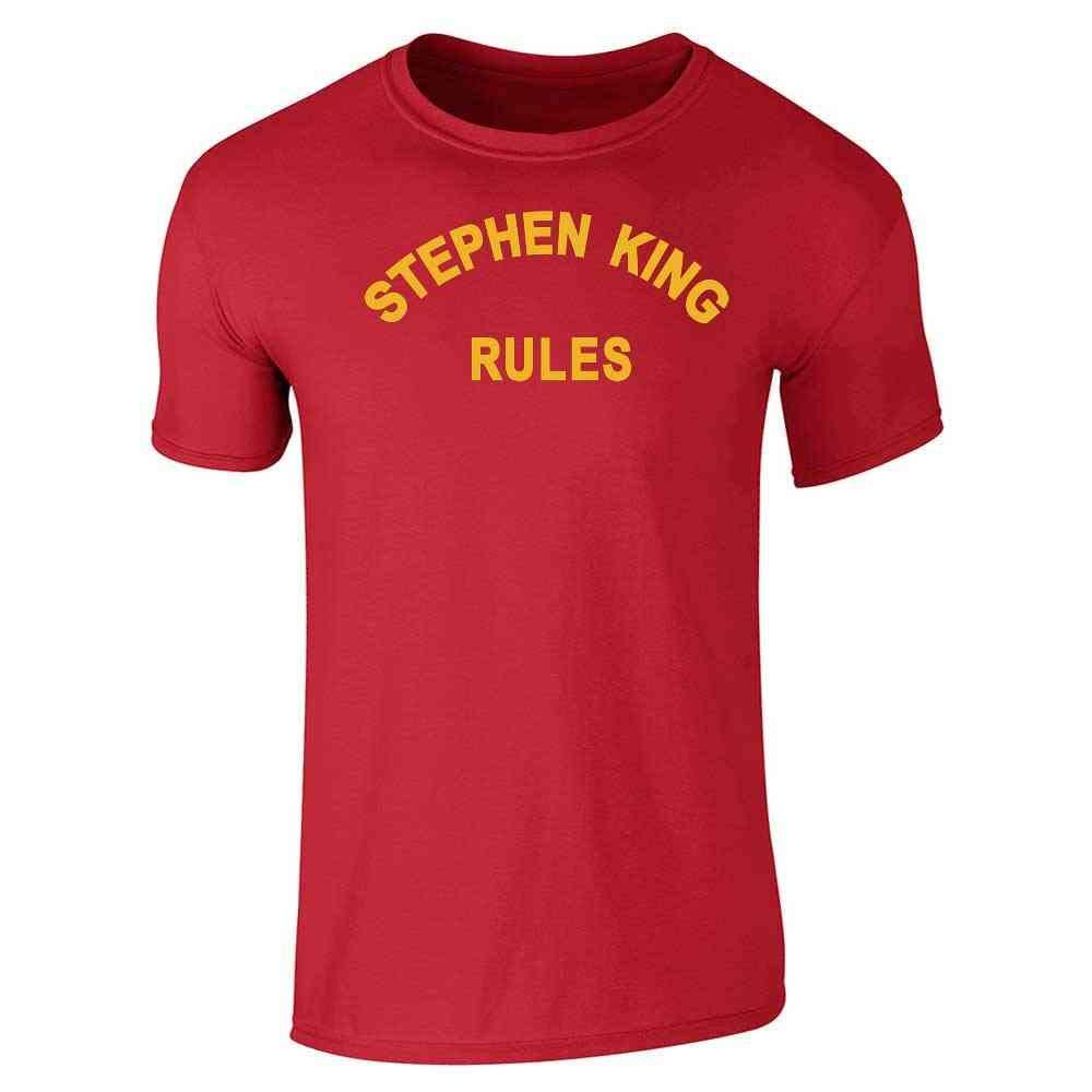 b40ee8282 Amazon.com: Stephen King Rules Horror Short Sleeve T-Shirt: Clothing