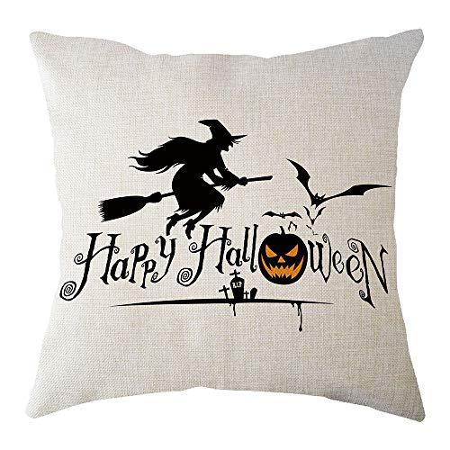 UONQD Halloween Home Decor Office Sofa Geometric Design Cushion Square Throw Pillow Cover Case Pillowslip(45cm45cm/18