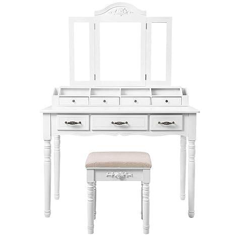 Amazoncom Ailove Furniture Dressing Table Set Vanity Dresser 3 Way