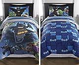 lego bedding full - Lego Batman Movie Reversible Comforter (Twin/Full)