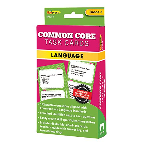 Edupress Common Core Task Cards, Language, Grade 3 (EP63351)