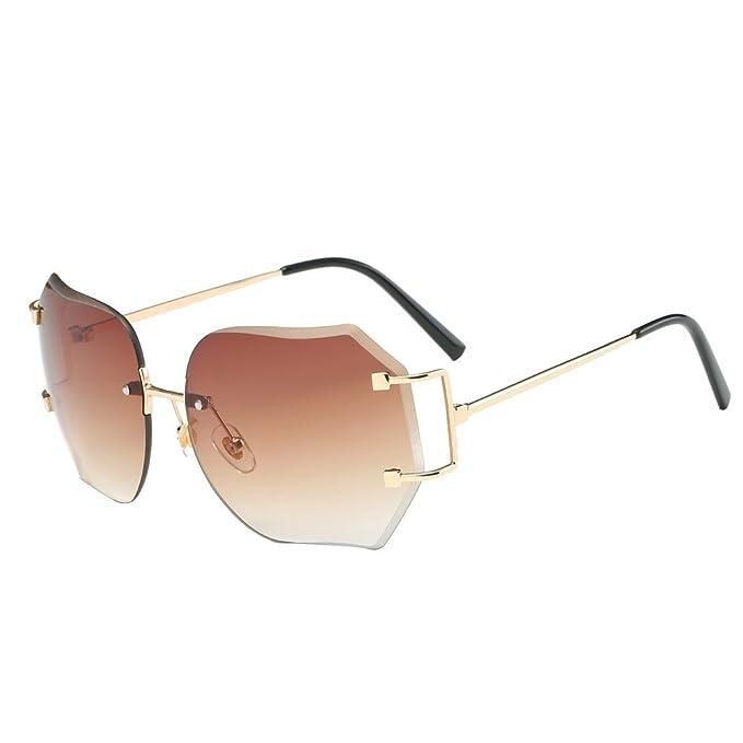 39b54b309f OUBAO Sunglasses Cute Vintage Retro Square Gradient Color Glasses Unisex Goggles  Eyeglasses Eye Glasses Metal Frame