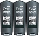 Dove Men + Care Elements Body Wash, Charcoal and Clay, 13.5 Ounce (Pack of 3)
