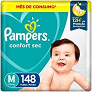 Fralda Pampers Confort Sec M 148 Unidades, Pampers