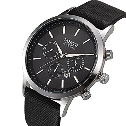 Mens 2017 North Brand Luxury Quartz Sports Wristwatch.