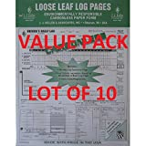 LOT OF 10 JJ KELLER 612-MP DUPLICATE 5-In-1 LOOSE LEAF CARBONLESS DRIVER'S LOG