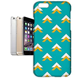 Phone Case For Apple iPhone 6 Plus - Geometric Abstract Triangles Teal Premium Wrap-Around