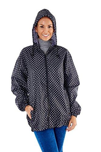 Mujer Proclimate Paquete A Kagoule Abrigo Impermeable En Bag negro