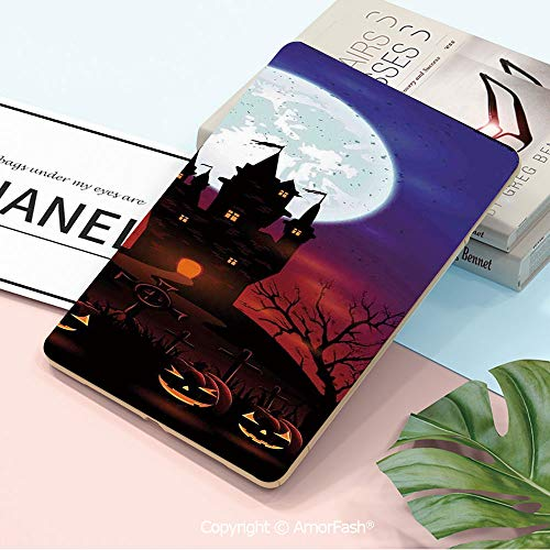Decorations Galaxy Tab A 10.5 T590 T595 Shockproof Case,[Anti-Scratch] [No-Bubble] [Case-Friendly],Halloween Decorations,Gothic Haunted House Castle Hill Valley Night Sky October Festival Theme,Multi]()