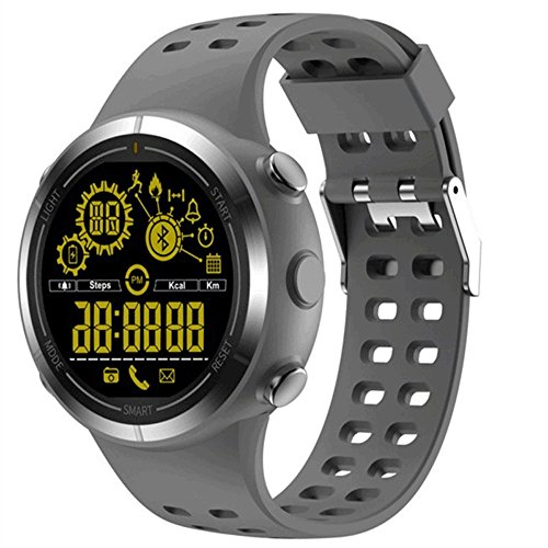 KLSZNSP Intelligent Sports Electronic Watch Male and Female Students Time Alarm Clock Luminous Waterproof Multifunctional Adult Watch Outdoor (Color : Gray)