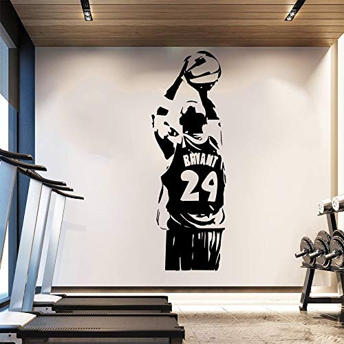 brewersmetaldecor Removable Wallpaper NBA Kobe Wall Sticker Basketball Poster Vinyl Room Decor Sport Man Wall Decals Black Mamba J911