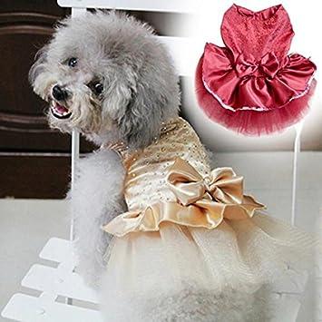 Sukisuki Vestitino da principessa per cagnoline con fiocco e tut/ù