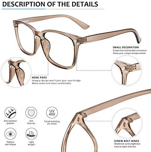Blue Light Blocking Glasses  Computer Glasses Anti Eye Strain Headache