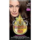 Garnier Olia Ammonia Free Permanent Hair Color, 100 Percent Gray Coverage (Packaging May Vary), 5.0 Medium Brown Hair Dye, 1 Kit