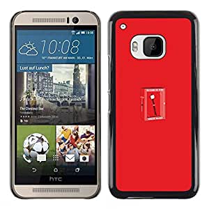 Stuss Case / Funda Carcasa protectora - Funny Marshmallow - In Case Of Fire - HTC One M9