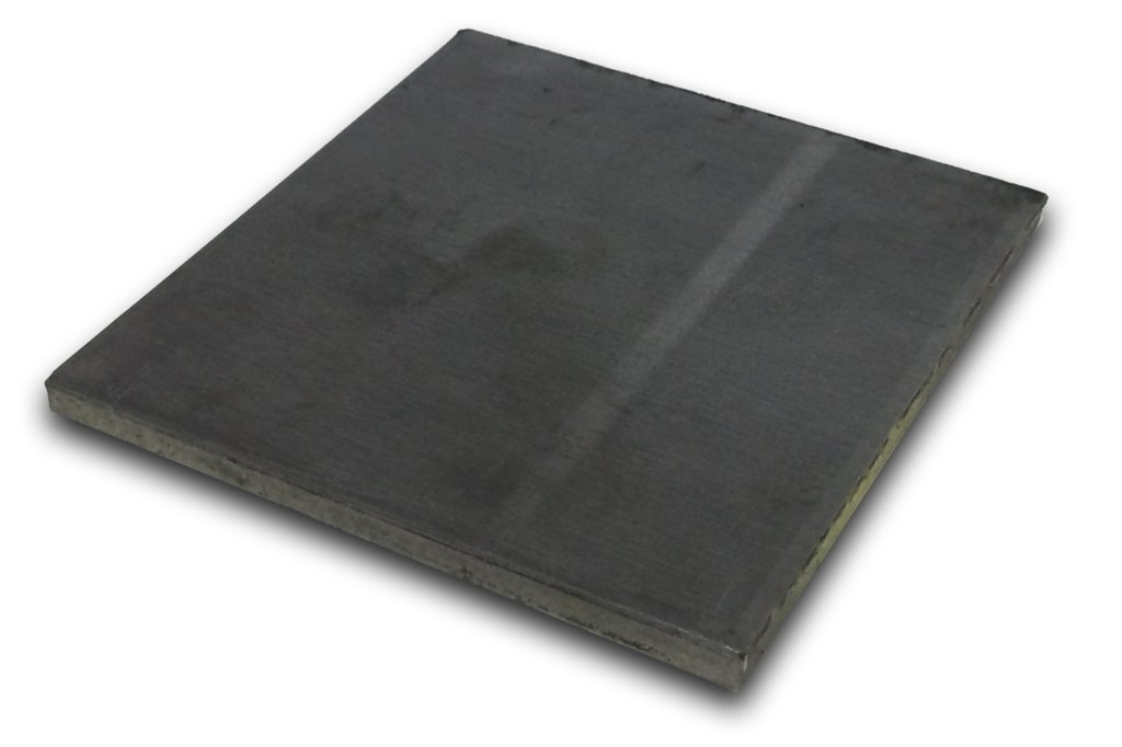 Hot Rolled Steel Plate 3/8'' x 6'' x 6'' (Pack of 2!) by IMS