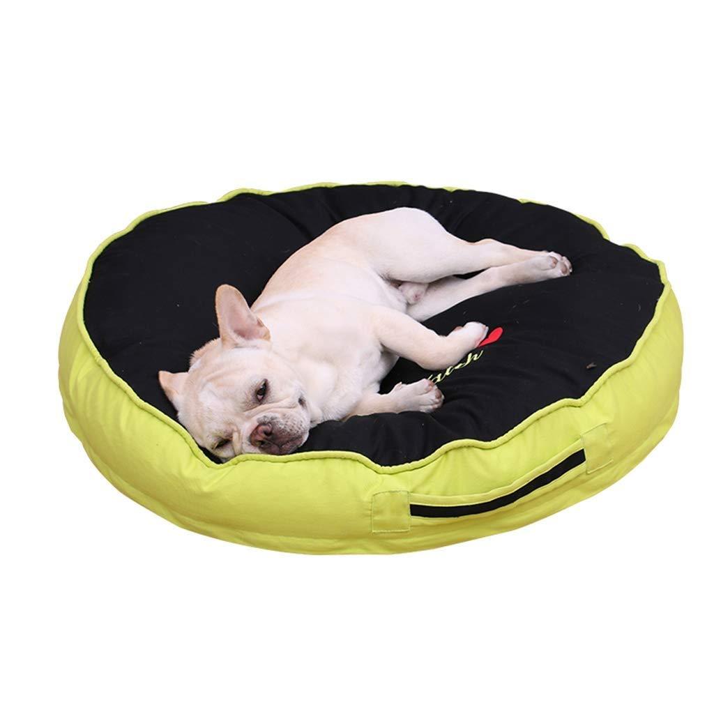 L 808012cm SSB Pbeds Black Dog bed donut Extra Large Dog Bed Sofa For Medium Orthopedic Indoor Pet Cats Dogs Beds 60-100cm (Size   L 80  80  12cm)