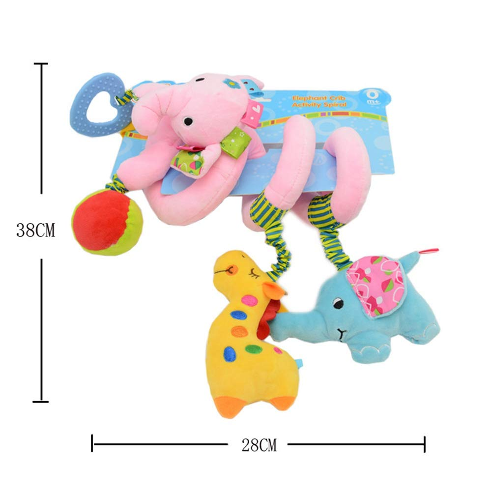 Peque/ño Burro y Elefante BOBORA Juguetes Colgantes Espiral Juguetes Cochecito para Beb/és y Primera Infancia Elefante Azul