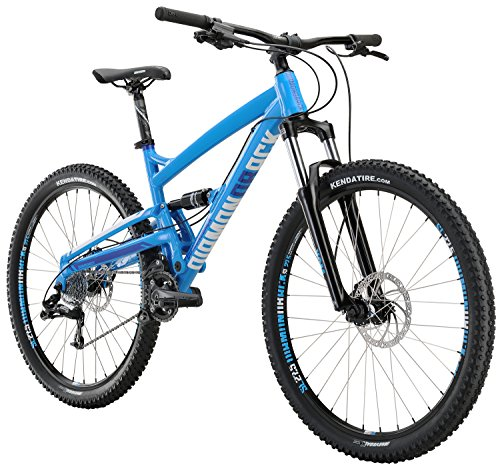Diamondback Bicycles Atroz Full Suspension Mountain Bike, Gloss Cyan, 20'/Large