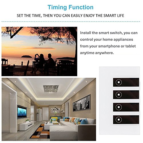 Smart Light Switch/Wifi Smart remote light switch - Wall Touch Switch, Wireless Voice Control and Timer Switch, Work with Amazon Alexa Echo and Google Home by Alysontech (Image #5)