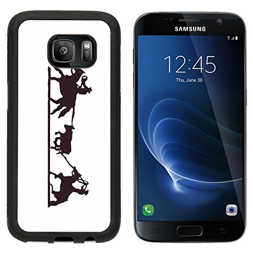 Premium West Sd Card (MSD Premium Samsung Galaxy S7 Aluminum Backplate Bumper Snap Case IMAGE ID: 2377995 Buckaroos cowboys with lariats roping cattle from their horses Western art iron work Wyoming Rocky Mountain)