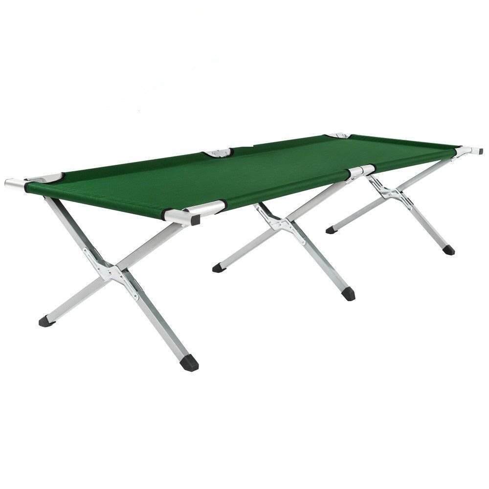 Savingplus Outdoor Camping-Bett, zusammenklappbar Light Aluminium Stahl Beine mit Tragetasche NEU
