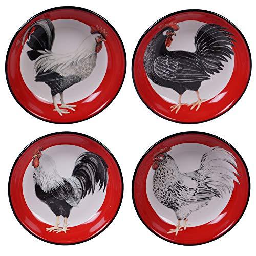 Certified International 26784SET4 Homestead Rooster 9