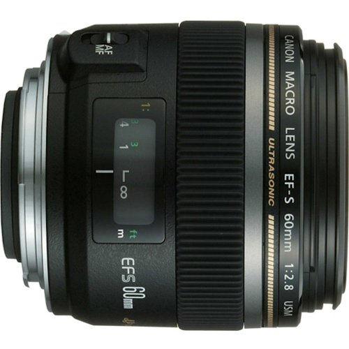 Canon EF-S 60mm f/2.8 Macro USM Fixed Lens for Canon SLR Cameras (Best 2.8 Lens For Canon)